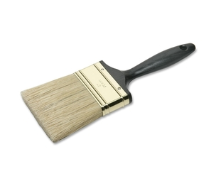 """National Industries For the Blind 8020015964248 Flat Paint Brush, 3"""", Brass Plated, Black Handle by SKILCRAFT"""