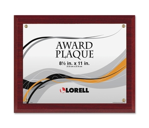 "Lorell Furniture 31887 Award-A-Plaque, Holds 8-1/2x11"", Mahogany by Lorell"