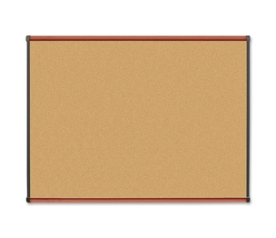 Lorell Furniture 60641 Natural Cork Board, 4'x3', Cherry by Lorell