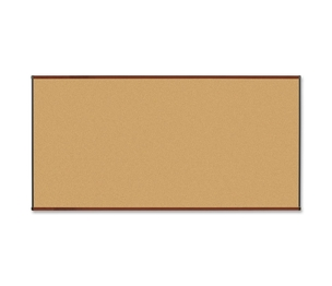 Lorell Furniture 60642 Natural Cork Board, 8'x4', Mahogany Finish by Lorell