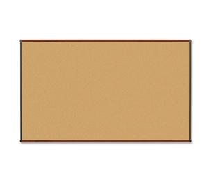 Lorell Furniture 60643 Natural Cork Board, 6'x4', Mahogany Finish by Lorell