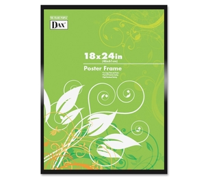 """Burnes Home Accents N1894W1T Poster Frame, Plastic Cover, 18""""x24"""", Metal/Black by DAX"""
