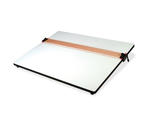 """Helix 37179 PVC Drawing Board, Adjustable Edge, Handle, 18""""x24"""", White by Helix"""
