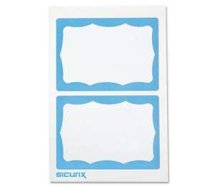 BAUMGARTENS 67643 Visitor Badge, Blue Border, 100/BX, White/Blue by Baumgartens