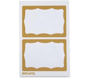 BAUMGARTENS 67647 Visitor Badge, Gold Border, 100/BX, Gold by Baumgartens