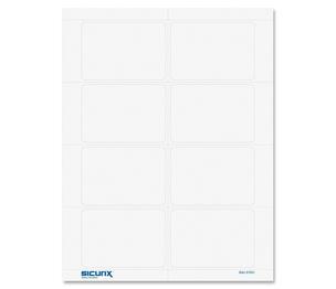 """BAUMGARTENS 67651 Visitor Badges,8-1/2""""x11"""" Sheet,200/BX,Plain,White by Baumgartens"""