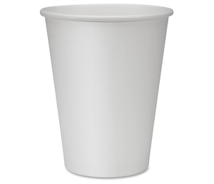 Genuine Joe 19047CT Hot Cups, Single, 12oz., 1000/CT, White by Genuine Joe