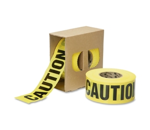 """National Industries For the Blind 9905016134243 Barricade Tape,""""CAUTION"""",Premium,Non-Adhesive,3""""x1000',YW by SKILCRAFT"""
