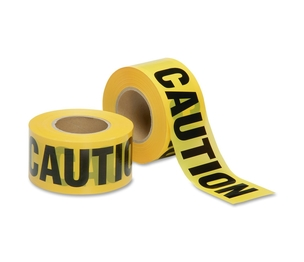 "National Industries For the Blind 9905016134244 Barricade Tape,""CAUTION"",Economy,Non-Adhesive,3""x1000',YW by SKILCRAFT"