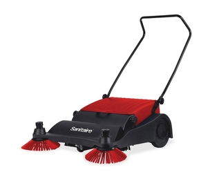 "Vacuum Sweeper, 32"" Wide, 37""x32""x16"", Red/Black by Sanitaire"
