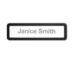 Lorell Furniture 80669 Plastic Cubicle Nameplate, Plastic, Black by Lorell
