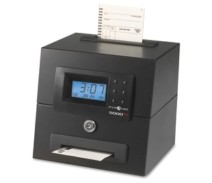 "Pyramid Time Systems 5000HD Heavy Duty Time Clock, Top Load, 8-3/4""x7-1/2""x7-1/4"", Black by Pyramid Time Systems"