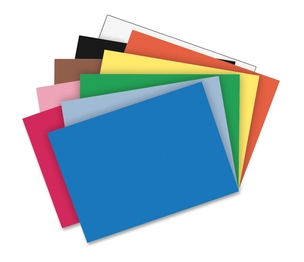 "PACON CORPORATION 1035035 Construction Paper, 76lb., 24""x36"", 50SH/PK, Assorted by Riverside"