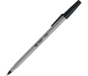 Business Source 37531 Ballpoint Stick Pens, Med Pt, 60/BX, Black by Business Source