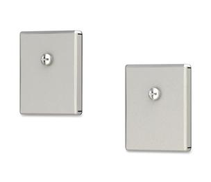 "Appvion, Inc 5900 Heavy Duty Magnets, 2/ST, 1-3/8""x1/4""x1-5/8"",Silver by Deflect-o"