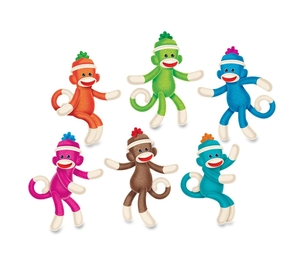 TREND ENTERPRISES, INC. T10608 Sock Monkey Solids Classic Accents, 36 Pieces, Multi by Trend