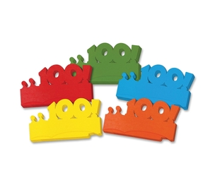 The Chenille Kraft Company 4670 Paper Crowns, First 100 Days, 25 Pieces, Multi-Color by ChenilleKraft