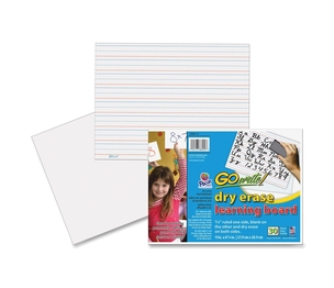 """PACON CORPORATION LB8512 Dry Erase learning Boards, Ruled,11""""x8-1/4"""", 30/CT, White by GoWrite!"""