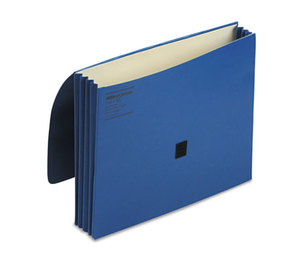 ACCO Brands Corporation WCC719-4BL ColorLife Three Inch Expansion Wallets with Velcro Gripper, Letter, Dark Blue by WILSON JONES CO.