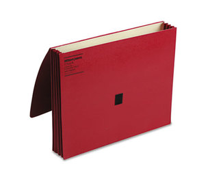 ACCO Brands Corporation WCC7194R ColorLife Three Inch Expansion Wallets with Velcro Gripper, Letter, Red by WILSON JONES CO.