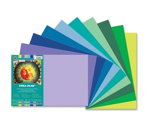 "PACON CORPORATION 102943 Construction Paper, 76lb., 12""x18"", 50/PK, Cool Ast by Pacon"