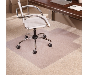 "ES ROBBINS CORPORATION 128323 Carpet Chairmat, Lip, 46""x60"", Clear by ES Robbins"