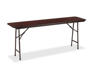 "Lorell Furniture 60725 Folding Table, 60""x18"", Mahogany by Lorell"