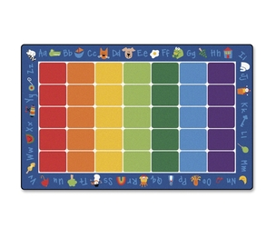 "ACCO Brands Corporation 9612 Rug,Phonics,7'6"" X 12' by Carpets for Kids"