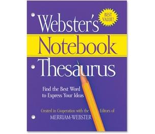 Merriam-Webster, Inc FSP0573 Thesaurus Notebook Websters by Merriam-Webster