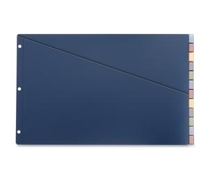 "Tops Products 80752 Polu Pocket Divider Insert, 12 Tab, 11""X17"", 20Pg Cap, Multi by Cardinal"