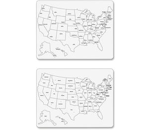 "The Chenille Kraft Company 9873CT Whiteboard, Usa Map, Lg, 23-5/8""X18"", 2-Sided, 10/Ct, We by ChenilleKraft"