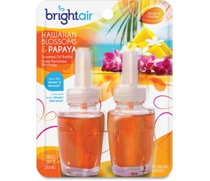 BPG International, Inc 900256 Air Freshener, Electric, Oil Scented Diff, 2/PK, Hawaiian by Bright Air