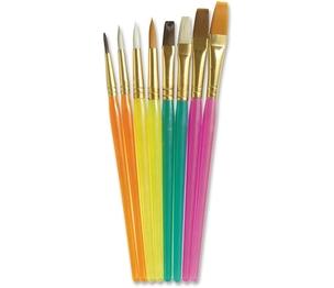The Chenille Kraft Company 5133 Acrylic Handled Brushes, Ast Sizes, 8/ST, Assorted by ChenilleKraft