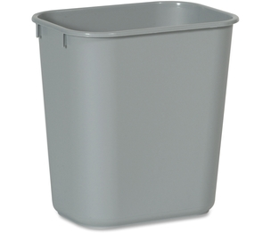 "Newell Rubbermaid, Inc 2955GY Rectangular Wastebasket,13-5/8 Qt,8-1/4""x11-3/8""x12-1/5"",GY by Rubbermaid Commercial"