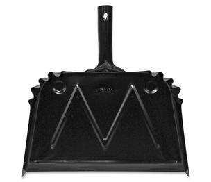 """ACCO Brands Corporation 85151 Dust Pan, Metal, 20 Gauge Steel, 15.5""""x16"""", Black by Genuine Joe"""