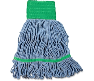 IMPACT PRODUCTS, LLC L270MD Wet Mop Head, w/Tailband, Looped-End, Cotton, 12/CT, Blue by Impact Products