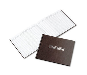 ACCO Brands Corporation WS490A Visitor Register Book, Red Hardcover, 112 Pages, 8 1/2 x 11 1/2 by WILSON JONES CO.