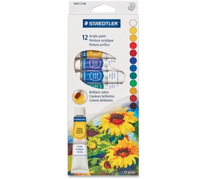 Staedtler Mars GmbH & Co. 8500 C12A6 Paint Set-Acrylic Tradition 12 12Ml.Tubes by Staedtler