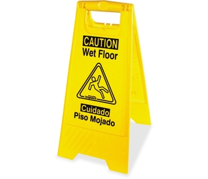 IMPACT PRODUCTS, LLC 9152W Wet Floor Sign, English/Spanish, Yellow/Black by Impact Products