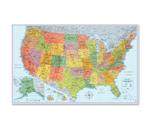 "Rand McNally & Company RM528012762 Us Wall Map, Sig Series, 32""X50"", Multi by Rand McNally"
