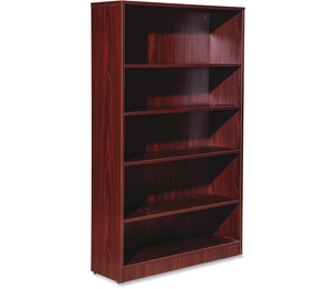 "Lorell Furniture 59567 5-Shelf Bookcase, 36""X12""X60"", Mahogany by Lorell"