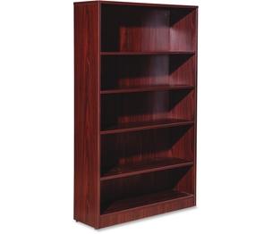 "5-Shelf Bookcase, 36""X12""X60"", Mahogany by Lorell"
