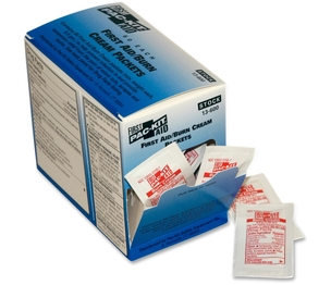 First Aid Only, Inc 13600 First Aid Burn Ointment, Singe Use Packets, 50/Bx, Red/White by First Aid Only
