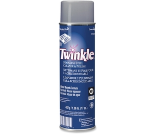 Stainless Steel Cleaner/Polish,Aerosol, 482G, Lemon Scent by Twinkle