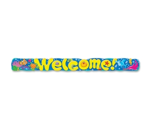 TREND ENTERPRISES, INC. 25085 Banner, Welcome Sea Buddies, Reusable, Mi by Trend