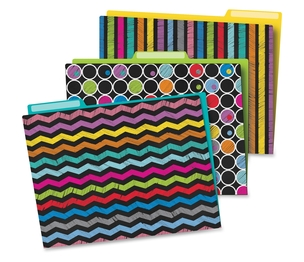 Carson-Dellosa Publishing Co., Inc 136006 Colorful Chalboard File Folders, Prek-Grade 8, 6/Pk, Multi by Carson-Dellosa