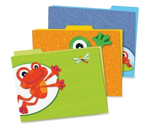 Carson-Dellosa Publishing Co., Inc 136008 Funky Frogs File Folders, Prek-Grade 8, 6/Pk, Multi by Carson-Dellosa