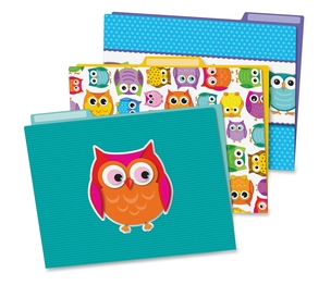 Carson-Dellosa Publishing Co., Inc 136009 Colorful Owls File Folders, Prek-Grade 8, 6/Pk, Multi by Carson-Dellosa