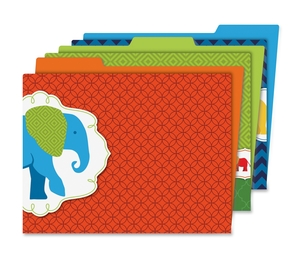 Carson-Dellosa Publishing Co., Inc 136010 Parde Of Elephants File Folders, Prek-Gr 8, 6/Pk, Multi by Carson-Dellosa