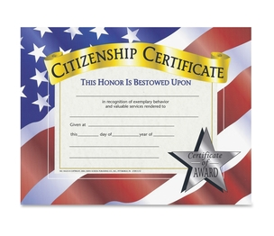 "Flipside Products, Inc VA525 Citizenship Certificate, 8-1/2""X11"", 10/Pk, Ast by Flipside"